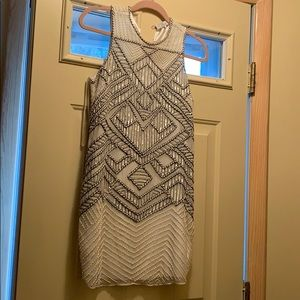 Parker size small ivory beaded dress NWOT